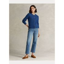 Ralph Lauren Cable Knit Casual Style Wool Cashmere Long Sleeves Plain