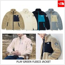 THE NORTH FACE PLAY GREEN Unisex Shearling Logo Jackets