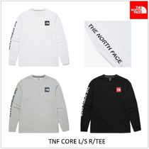 THE NORTH FACE Unisex Street Style U-Neck Long Sleeves Long Sleeve T-shirt