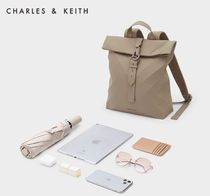 Charles&Keith Casual Style Faux Fur A4 Office Style Elegant Style