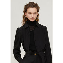 PATOU Casual Style Silk Elegant Style Collars