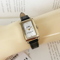 Coach Casual Style Leather Square Party Style Quartz Watches