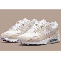 Nike AIR MAX 90 Unisex Plain Leather Sneakers