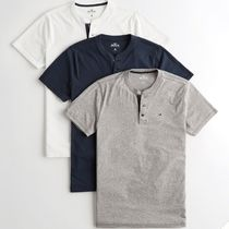 Hollister Co. Henry Neck Street Style Plain Cotton Short Sleeves Co-ord
