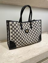 CELINE Horizontal Cabas Horizontal cabas in textile with triomphe embroidery