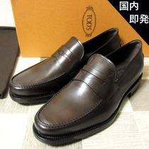 TOD'S Moccasin Loafers Leather U Tips Loafers & Slip-ons