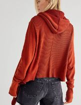 Free People Casual Style Long Sleeves Plain Cardigans