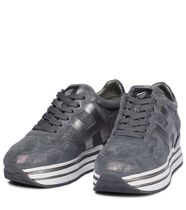 HOGAN Rubber Sole Casual Style Suede Street Style Leather