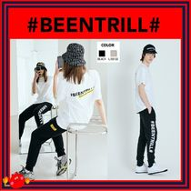 BEEN TRILL Casual Style Unisex Street Style Plain Logo Bottoms
