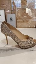 Jimmy Choo Open Toe Platform Pin Heels Party Style Footbed Sandals
