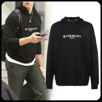 GIVENCHY Long Sleeves Cotton Logo Luxury Hoodies