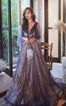 A-line Sleeveless Flared Plain Long Lace With Jewels Bridal
