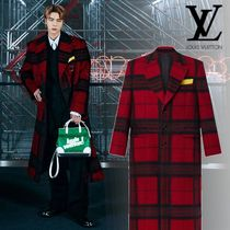 Louis Vuitton Other Plaid Patterns Wool Nylon Oversized Logo Chester Coats