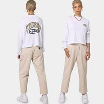 STUSSY Street Style Long Sleeves Cotton High-Neck