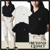 beyond closet Casual Style Street Style Short Sleeves Polos