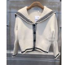 Christian Dior Short Casual Style Wool Cashmere Long Sleeves Elegant Style