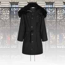 GIVENCHY Hooded parka in sheep lining
