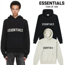 FEAR OF GOD ESSENTIALS Unisex Street Style Long Sleeves Cotton Oversized Logo