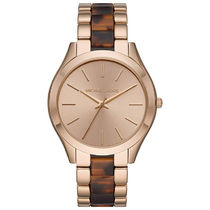 Michael Kors RUNWAY Casual Style Round Quartz Watches Stainless Office Style