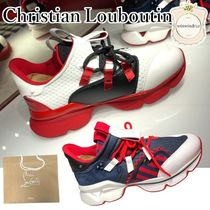 Christian Louboutin Lace-up Leather Elegant Style Low-Top Sneakers