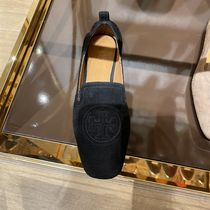 Tory Burch Casual Style Suede Plain Flats