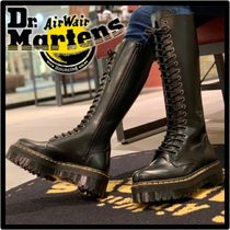 Dr Martens Casual Style Street Style Leather Logo Boots Boots