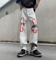 Printed Pants Street Style Cotton Chinos