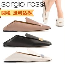 Sergio Rossi Casual Style Street Style Plain Leather Party Style
