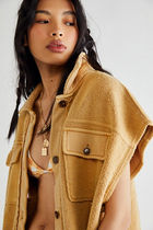 Free People Casual Style Plain Vest Jackets