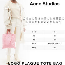 Ance Studios Casual Style Unisex Street Style A4 2WAY Totes