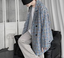 Other Plaid Patterns V-Neck Long Sleeves Tops