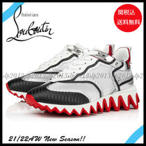 Christian Louboutin Casual Style Blended Fabrics Street Style Plain Leather