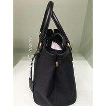 PRADA Casual Style Canvas 2WAY Plain Leather Office Style