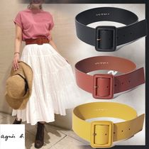Agnes b Casual Style Faux Fur Street Style Office Style Belts