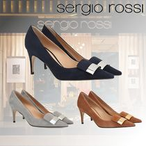 Sergio Rossi Leather Pin Heels Party Style Elegant Style