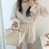 Casual Style Faux Fur 2WAY Plain Office Style Elegant Style