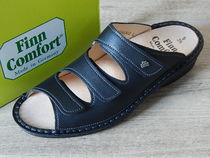 Finn Comfort Round Toe Casual Style Leather Footbed Sandals Flat Sandals