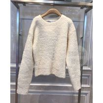 Christian Dior Crew Neck Casual Style Wool Long Sleeves Elegant Style Logo