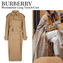 Burberry Other Plaid Patterns Casual Style Plain Long Party Style