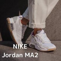 Nike AIR JORDAN Platform Lace-up Casual Style Suede Street Style Logo