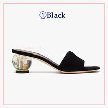 kate spade new york Open Toe Round Toe Casual Style Suede Blended Fabrics Plain