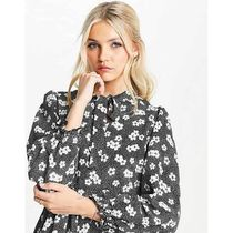 New Look Flower Patterns Dots Casual Style Long Sleeves Medium