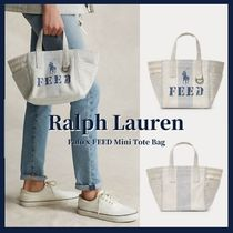 POLO RALPH LAUREN Casual Style Canvas Street Style Office Style Logo Totes