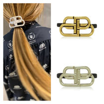 BALENCIAGA Scrunchy Blended Fabrics Initial Street Style Party Style