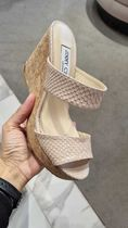 Jimmy Choo Open Toe Casual Style Other Animal Patterns Leather