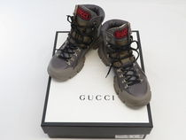 GUCCI Plain Toe Mountain Boots Street Style Dad Sneakers Logo