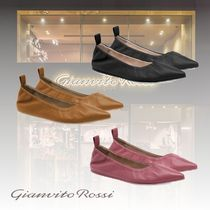 Gianvito Rossi Casual Style Plain Leather Party Style Office Style