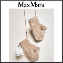 MaxMara Wool Plain Leather Leather & Faux Leather Gloves