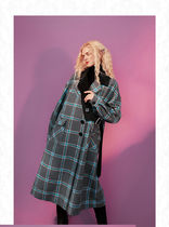 ELF SACK Other Plaid Patterns Casual Style Long Asymmetry