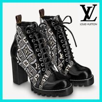 Louis Vuitton Monogram Casual Style Street Style Block Heels Party Style